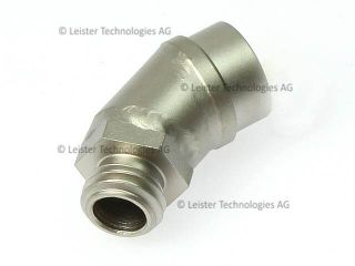 Leister 45 Degree Angular Adapter for Screw-fit Nozzles 127.727