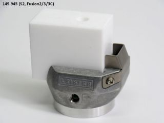 Leister Blank Welding Shoe (45 x 30 x 54mm) 145.945 for WELDPLAST S2, FUSION 2, FUSION 3, FUSION 3C