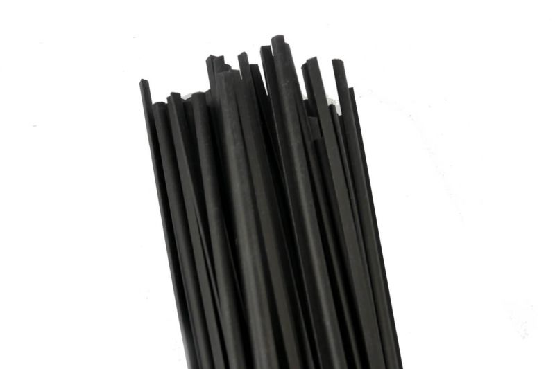 Plastic Welding Rod PP/EPDM 5.7mm Triangular Black 1kg in 1m Sticks