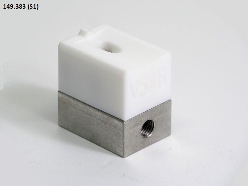 Leister 5-6mm V-seam Welding Shoe 149.383 for WELDPLAST S1 (230v/120v)
