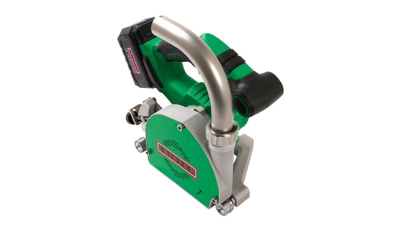 Leister GROOVER 500-LP 167.451 battery powered with 3.5mm Parabolic TCT Blade for Vinyl Floor Welding (no bag)